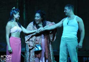 April Abrazado as Liat, Brenda Oen as Bloody Mary and Danny Gurwin as Lt. Joe Cable