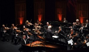 Anton Nel with the Mainly Mozart orchestra [photo (c) Ken Jacques]
