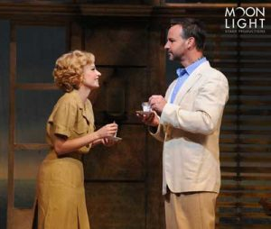 Hilary Maiberger as Ensign Nellie Forbush and Randall Dodge as Emile de Becque. Photo by Ken Jacques Photography