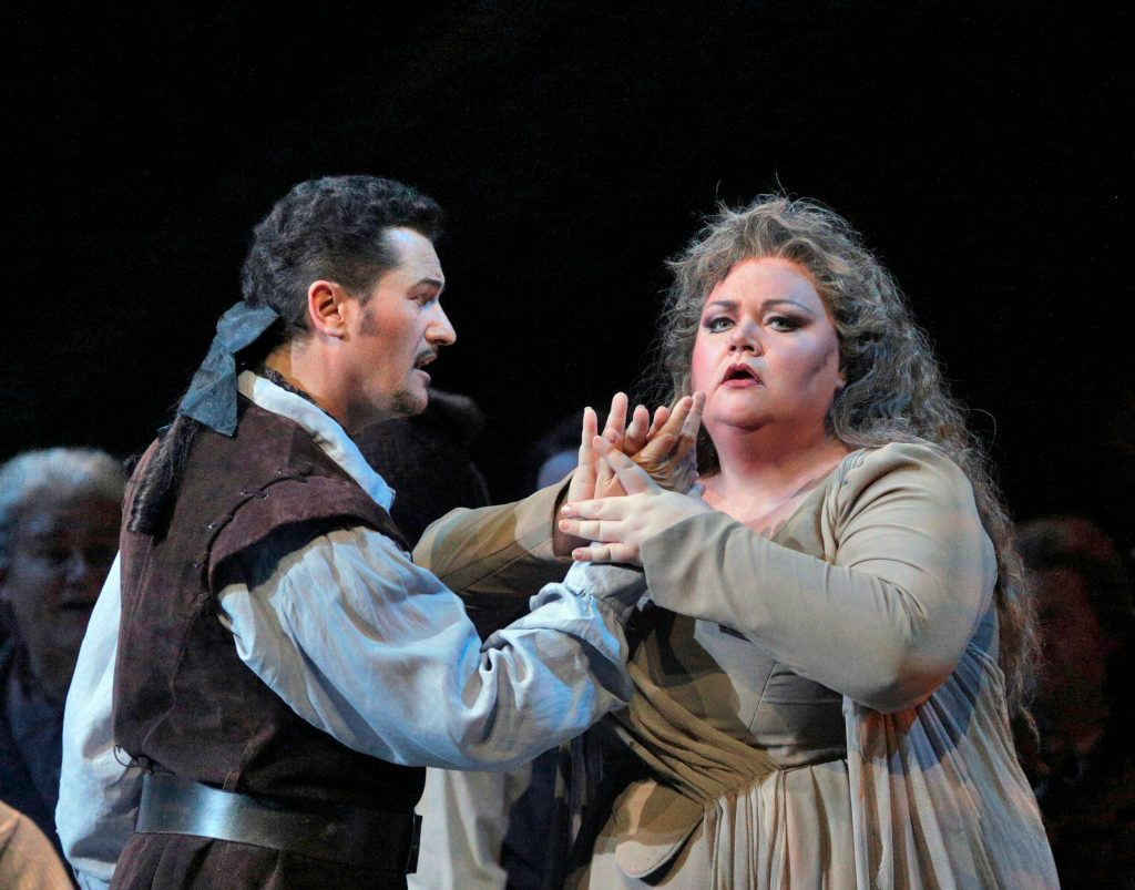 Piort Beczala and Stephanie Blythe in San Diego Opera's 2014 'Ballo in maschera' [photo (c) Cory Baml]