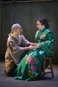 BD Wong and Marie-France Arcilla in The Orphan of Zhao at the La Jolla Playhouse. Kevin Berne Photos