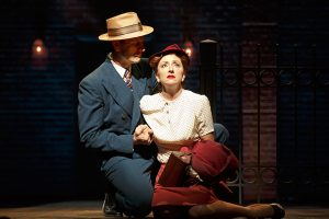 "Carmen Cusack as Alice Murphy and Wayne Alan Wilcox as Jimmy Ray Dobbs in ""Bright Star."""