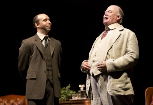 Waybe Duvall, righrt, and Joe Jung in Old Globe Theatre's Bright Star.