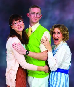 Clueless times three, from left: Helen Dingleberry (Amanda Sitton), husband John (Brian Mackey) and Nanny (Shana Wride). Courtesy photos.