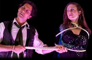 Keith Boudreau and Erica Valen are Mysterium at the Fringe Festival.