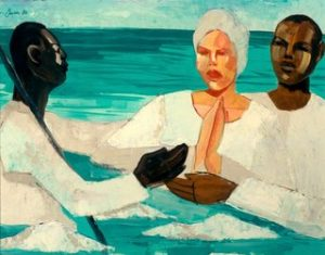 "Image of Jonathan Green's ""The Baptism of Susie Mae,"" 1986."