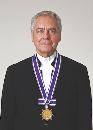 John Neumeier with his Kyoto gold medal. Courtesy image