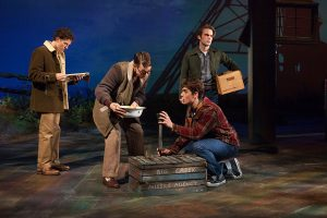 Austyn Myersl, Connor Russell, Kyle Selig and Patrick Rooney in October Sky at the Old Globe Theatre. Jim Cox Photo